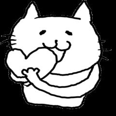 悲しみの猫スタンプ