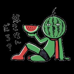 ひねくれスイカマン