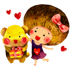 Chestnut Girl & QQ Bear