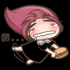 Miss rose pink loves food