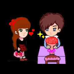 Sweet girl with boyfriend