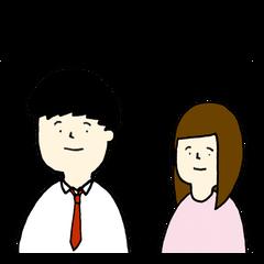 [LINEスタンプ] 日男台女国際恋愛生活 (1)