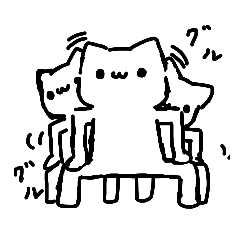 自由気ままな白猫達