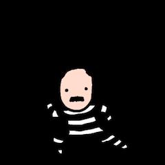 [LINEスタンプ] 囚人さん (1)
