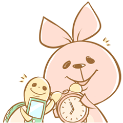 ウサギとカメ(待ち合わせ用)