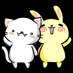 """""""overbite bunny"""" & """"snow kitten"""""""
