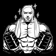 筋肉で威圧するスタンプ