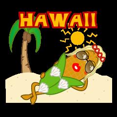 ハワイアンコーンちゃんとスパむすび丸くん