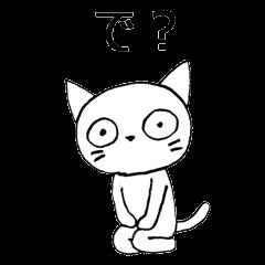 無表情で生意気な白猫