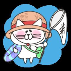 にゃんさん 夏のねこスタンプ 03.