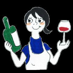 ワインソムリエ少女。