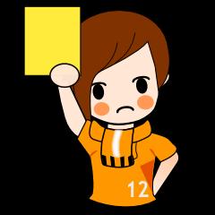 女子サポスタンプ(オレンジ)