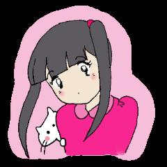 昭和少女と猫