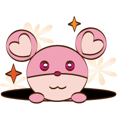 Cute pink mouse