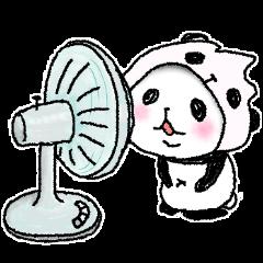 [LINEスタンプ] パンダinぱんだ ~夏~ (1)