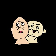 [LINEスタンプ] なかよしじじい