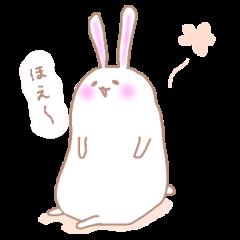 ほのぼのしたウサギの丁寧めなスタンプ