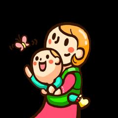 [LINEスタンプ] がんばれママさん育児中