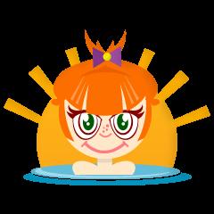 オレンジ面白い女の子