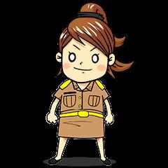 Aoisoi Browny Girl