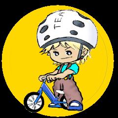 自転車とヤンチャな息子
