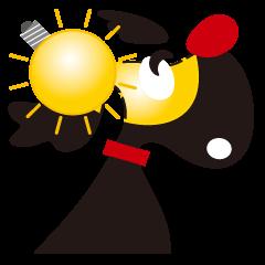 「 Hot!」に変身!!黒ラブ:アンジ