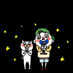 [LINEスタンプ] 白い小人シリーズ