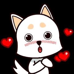 ハッピーホワイトシェパードの子犬