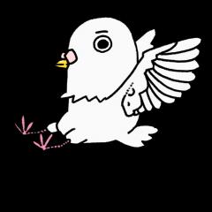 白いハトのホロホ