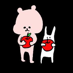 [LINEスタンプ] 小さい桃色くま