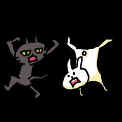 かごんまの陽気なネコとウサギ♪2番