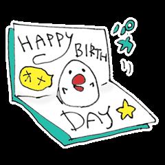 お誕生日おめでとう専用スタンプ トリ編