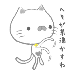 へそで茶を沸かす猫