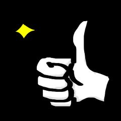 手の動きで伝えるスタンプ