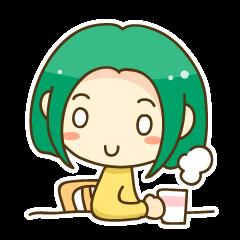 緑髪の女の子