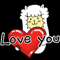 Love you アルパカ