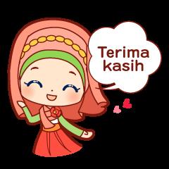 女子の日常スタンプ(インドネシア語)
