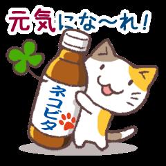 [LINEスタンプ] 猫と四つ葉のクローバー 2 (1)
