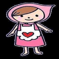 ピンクずきんのほのちゃん