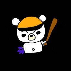 実況!野球観戦スタンプ1