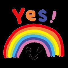虹みっけ!