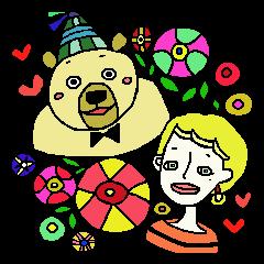 クマ と はち子 !