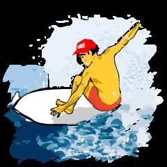 SURFキャップの男 イケメンサーファー
