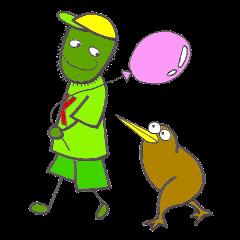 キウイ少年とキウイバード