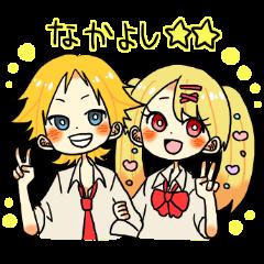 金髪カップル