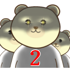 ★ めっちゃ使える ★ くすっと笑える ★ クマ ★ ウサギ ★        (*^▽^*) (*´▽`*)