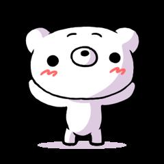 いろいろな場面で使える白クマ!