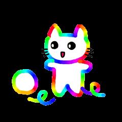 [LINEスタンプ] 虹猫ちゃん
