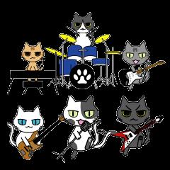 猫たちのバンドスタンプ