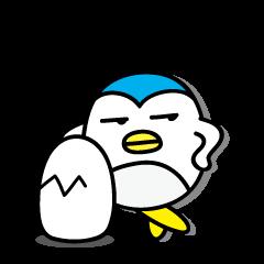 [LINEスタンプ] 丸い毒舌ペンギン Vol.4(POWER UP版)